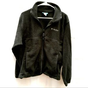 Columbia black mens fleece zipper jacket coat M